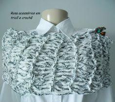 Maxi gola tricot mescla by www.rosaacessorios.blogspot.com