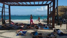 NRG2GO Instructor Jennifer Cross teaching yoga at the beautiful Royalton Punta Cana.#nrg2go #royaltonpuntacana
