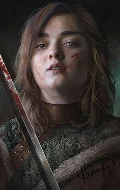 Perfect realistic digital artworks of Arya Stark from HBO Game of Thrones, done by Yasmine Vesalpour Arte Game Of Thrones, Game Of Thrones Artwork, Game Of Thrones Arya, Game Of Thrones Poster, Game Of Thrones Funny, Jon E Daenerys, Daenerys Targaryen, Khaleesi, Arya Stark Art
