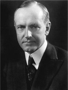 Calvin Coolidge was inaugurated as president after the death of President Harding. He was easily elected in 1924 when he ran on a basis of order and prosperity. Coolidge made use of the new medium of radio and made radio history several times while president: his inauguration was the first presidential inauguration broadcast on radio. On 12 February 1924, he became the first President of the United States to deliver a political speech on radio, and only ten days thereafter.