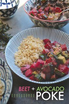 Beet + Avocado Poke Bowls
