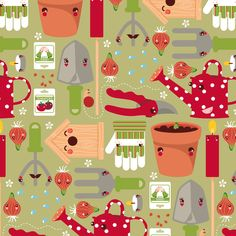 Kawaii Pattern Design by Nancy Kers, via Behance
