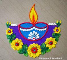 Rangoli Designs Simple Diwali, Indian Rangoli Designs, Rangoli Designs Latest, Rangoli Designs Flower, Free Hand Rangoli Design, Small Rangoli Design, Rangoli Border Designs, Colorful Rangoli Designs, Flower Rangoli