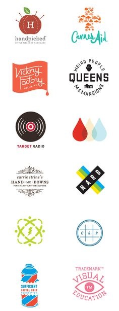 I included this selection of logos in my research board because each of them have their own modern appearance and original feel to them.
