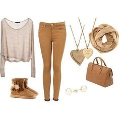 beige outfit :D