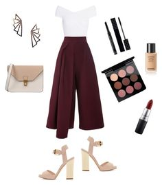 """Birthday Dinner "" by veronaar3 on Polyvore featuring Alix, TIBI, Boohoo, Giuseppe Zanotti, 8, MAC Cosmetics, Gucci, Christian Dior, birthday and outfit"