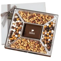 1.25 Lb. Custom Chocolate Centerpiece You can add logos, company name and so much more! Great for Thank You and Holiday gifts, break room goodies and more!