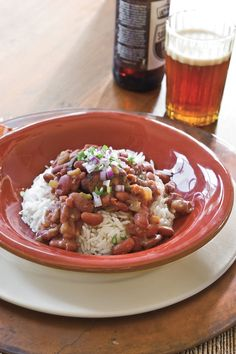 Smoked turkey sausage, bell peppers, and red beans come together in this classic, easy slow-cooker recipe. Serve over long-grain rice for an amazing meal.    Recipe:Slow-Cooker Red Beans and Rice Cooking Video:Quick-Fix Red Beans and Rice