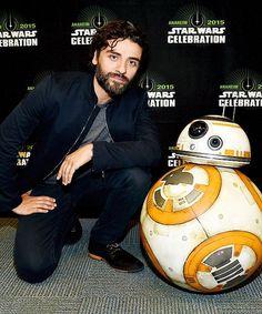 Oscar Isaac attends Star Wars Celebration 2015 on April 16, 2015 in Anaheim, California. #bb-8 #spherobb8 #bb8 #starwars #friki