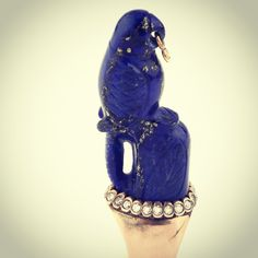 Put a bird on it! Lapis Lazuli ring by Mukhi Sisters- Beirut Souks. info@mukhisisters.com