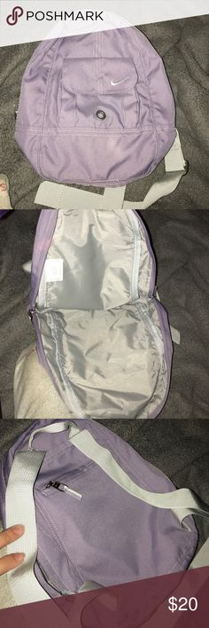 Small Nike backpack Lavender Nike backpack. New without tags. Perfect condition. Nike Bags Backpacks