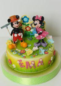 Torturi - Viorica's cakes: Mickey si Minnie in gradina