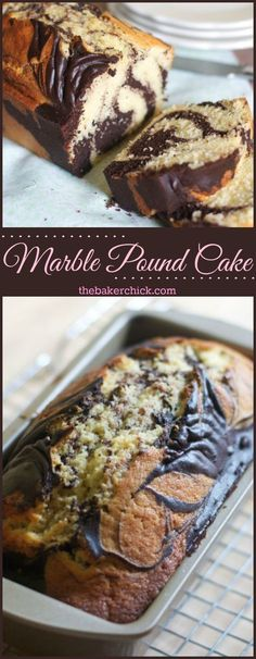 Marble Pound Cake- Cool AND delicious😛 Marble Pound Cakes, Marble Cake Recipes, Pound Cake Recipes, Easy Cake Recipes, Marble Bread Recipe, Loaf Recipes, Cheesecake Recipes, Köstliche Desserts, Delicious Desserts
