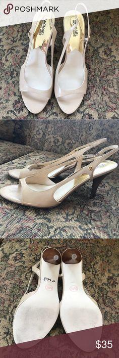 MICHAEL Michael Kors Leather Nude Heels Good condition. Worn few times. MICHAEL Michael Kors Shoes Heels