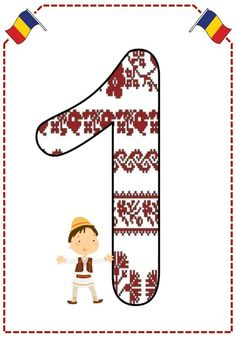 Cifre cu românaşi - Logorici 1 Decembrie, The Magicians, Romania, Crafts For Kids, Playing Cards, Teacher, Symbols, Letters, Painting