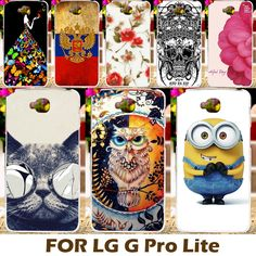 DIY Painting Design Hard Plastic Case For LG Optimus G Pro Lite Cases D680 Dual Sim D686 D685 D684  Phone Cover Bag Skin