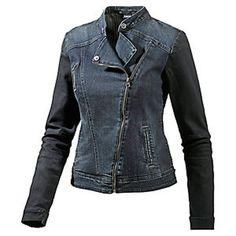 damen Oversize Blogger Modische Jeansjacke Denim Jacke mit Nieten S M L XL