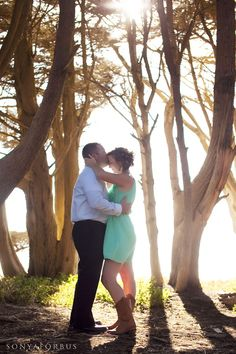 Outdoor engagement session with this fun couple on Highway 1. Somewhere between Santa Cruz and Costanoa.