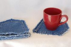 11 Stylish Ways to Repurpose Old Jeans into Home Decor: No-Sew Denim Coasters
