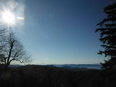 The NC Side of the Smokies as viewed from the Appalachian Trail near Newfound Gap.