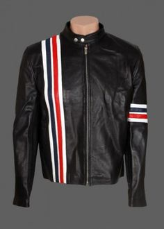"Are you ready to wear? ""Easy Rider Captain America US Flag Leather Jacket""  #chrisevans #easyrider #jacket #captainamerica #riders #bikers"