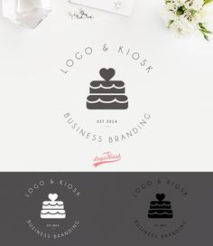 Hey, I found this really awesome Etsy listing at… Bakery Business, Business Logo, Formation Patisserie, Cake Branding, Cupcake Logo, Cake Logo Design, Visiting Card Design, Web Design, Mozart
