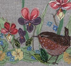 Fabric bowl - Wren and Wildflowers - just gorgeous!