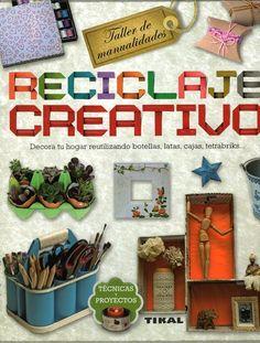 Plásticos, cartones, latas o CD en desuso se convierten en estuches, guirnaldas, cajas de regalo,  y objetos decorativos, con las técnicas de la filigrana, papel maché, cartapesta o découpage que se muestran en esta obra. Búscalo en  http://absys.asturias.es/cgi-abnet_Bast/abnetop?SUBC=032401&ACC=DOSEARCH&xsqf99=(reciclaje+creativo+tikal)