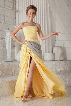 Yellow Sheath/Column Halter Formal Dresses ted1640 - SILHOUETTE: Sheath/Column; FABRIC: Chiffon; EMBELLISHMENTS: Ruffles; LENGTH: Floor Length - Price: 141.6800 - Link: http://www.theeveningdresses.com/yellow-sheath-column-halter-formal-dresses-ted1640.html