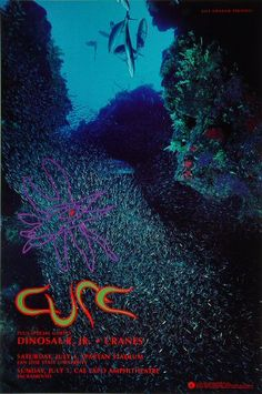 The Cure/Dinosaur Jr. San Jose show poster 1992 my wife was at this show Music Artwork, Art Music, Music Artists, The Cure Concert, Rock Concert, Tour Posters, Band Posters, Music Covers, Album Covers