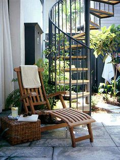 new orleans style courtyard designs | courtyard with spiral staircase