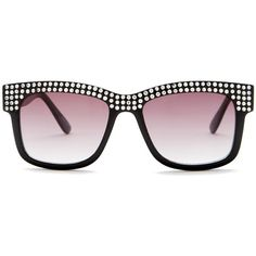 28dbefb8ef0f Betsey Johnson Women's Fashion Sunglasses ($20) ❤ liked on Polyvore  featuring accessories, eyewear, sunglasses, black, betsey johnson glasses,  ...