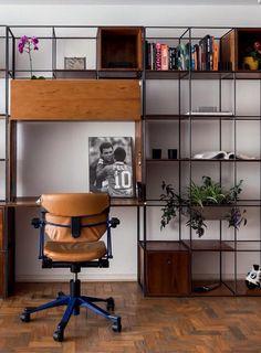 Décor do dia: estante multifuncional na sala - Casa Vogue | Décor do dia