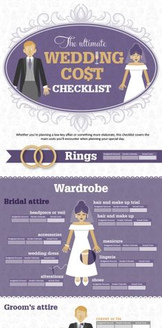 The Ultimate Wedding Cost Checklist.  I really don't want to start thinking about this, but yeah...