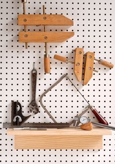 I love pegboard. I love organizing my workshop with it, I love using it in our office, I think it's cool when people do the Julia Childs-style pegboard pot rack... Peg Board Shelves, Built In Shelves, Peg Boards, Build Your Own Shelves, Basement Storage, Pegboard Storage, How To Bend Wood, Tool Board, Diy Projects