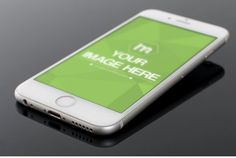 Closeup White Iphone Mockup Template | ShareTemplates