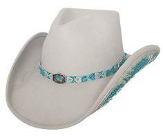 OSTAYLER Natural Beauty - Wool Felt Western Cowboy Hat -Black (Small 9dc7f17c48cc