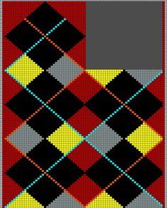 Blog By Day: Mosaico Para Tricô Masculino Tapestry Crochet Patterns, Intarsia Patterns, Knitting Charts, Hand Knitting, Blog By Day, How To Start Knitting, Yarn Crafts, Needlework, Knit Crochet