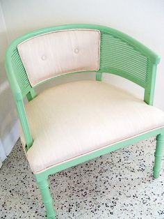 Mid Century Mint Club Chair Lovely by TheDappyBint on Etsy.