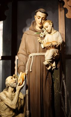 "St. Anthony of Padua first joined the Augustinian Order  then left it  joined the Franciscan Order in 1221, at age 26. He became a Franciscan was because of the death of the five Franciscan protomartyrs -- St. Bernard, St. Peter, St. Otho, St. Accursius, St. Adjutus -- who shed their blood for the Catholic Faith in the year 1220. He is typically depicted with a book and the Infant Child Jesus, to whom He miraculously appeared, is commonly referred to today as the ""finder of lost articles."""