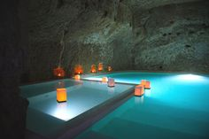 Pool inside a cave in Italy - wow