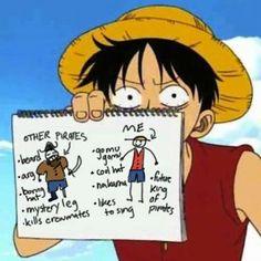 Luffy comparing pirates
