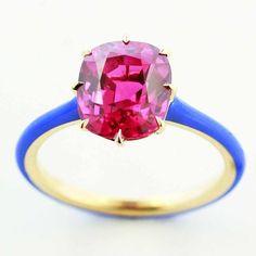 taffinjewelry Gem pink sapphire ring.