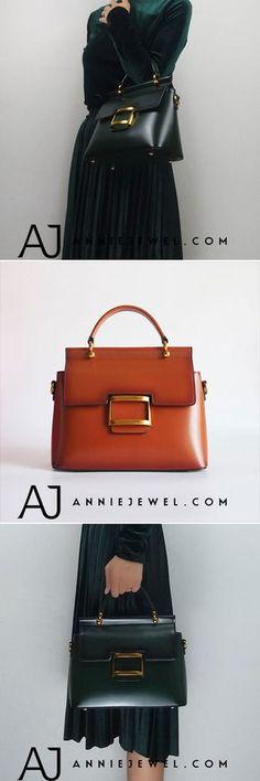 GENUINE LEATHER HANDBAG SHOULDER BAG SATCHEL BAG CROSSBODY BAG CLUTCH PURSE FOR WOMEN
