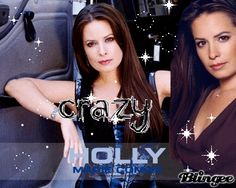 Holly Marie Combs with sparkles