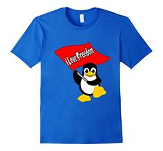 Penguin I Love Freedom T-shirt Funny - Male Small - Royal Blue ZaySa Desing T-shirt http://www.amazon.com/dp/B01BRVBAQS/ref=cm_sw_r_pi_dp_q6qWwb1A8T1DG