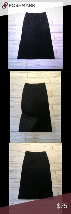 KATE HILL🌹Gorgeous Leather/Suede Maxi Skirt! EUC! Beautiful Suede! Side Slit, back Zipper. Excellent Condition! Kate Hill Skirts Maxi