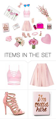 """Pink"" by teendelta ❤ liked on Polyvore featuring art"