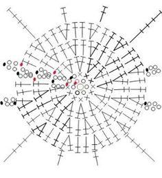 схема вязания ажурного платья крючком 3