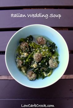 #LowCarb Italian Wedding Soup Shared on https://www.facebook.com/LowCarbZen
